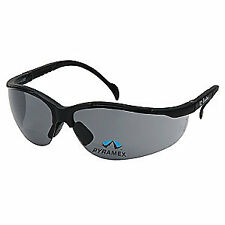 PYRAMEX Bifocal Safety Read Glasses,+2.00,Gray, SB1820R20