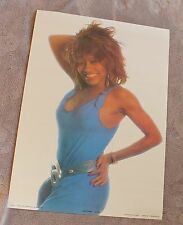Tina Turner 1985 R&B Soul Anabas Hot Blue Dress Essex Music Poster #AA179 VG C6