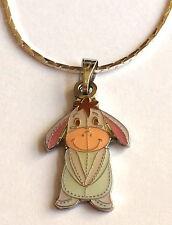 "Silver Eeyore Winnie The Pooh Necklace Pendant Enamel Plated Cartoon Disney 18"""