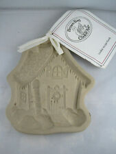 Brown Bag Cookie Art Gingerbread House Shortbread Mold 1989 Christmas Stoneware
