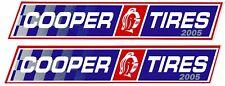 Cooper Tires Racing Decals Stickers Set Of 2 Body Blue Window Auto Vinyl