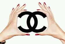 COCO CHANEL logo picture - quality glossy A4 print