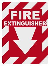 Fire Extinguisher Inside Small Reflective Decal Sticker
