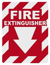 """Fire Extinguisher Inside Small 2"""" Reflective Decal Sticker"""