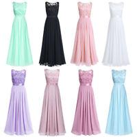Evening Party Chiffon Bridesmaid Dresses Long V-Neck Evening Prom Maxi Dress UK