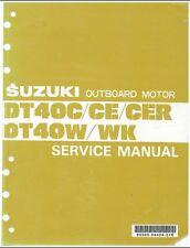 84-98 Suzuki DT40C DT40CE DT40CER DT40W DT40WK Outboard Motor Service Manual CD