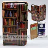 For OPPO Series - Bookshelf Theme Print Wallet Mobile Phone Case Cover