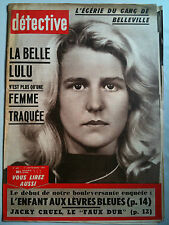 DETECTIVE 11/09/1959 Gang de Belleville/ Villa Nelleric Antibes/ C. Jorgensen