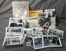 Lot 88 Vintage 50s old photos pictures photographs bw Black white men women kids
