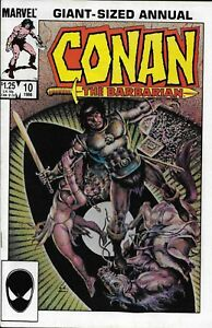Conan the Barbarian Comic 10 Copper Age First Print 1986 Jim Owsley Chan Marvel