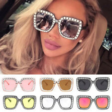 1242b8ff03 Oversized Square Frame Bling Rhinestone Cat Eye Retro Women Fashion  Sunglasses