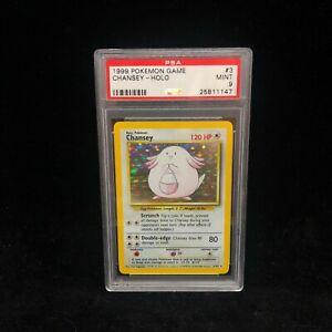 1999 Pokemon Base Set Holo Chansey 3/102 - 1999-2000 Print - Graded Card PSA 9