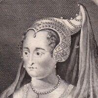 Portrait XVIIIe Marie De Bourgogne Duchesse Bourgogne Comtesse Hollande Zélande
