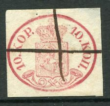 FINLAND 1856 10 Kop. rose used with pen cancel