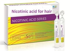 Nicotinic acid for hair. Stimulates, strengthens the hair. 10 ampoules Х 5 ml
