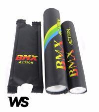 "Old School BMX Kids retro handle bar / frame foam Crash Pad Set, Black,16"" bike"