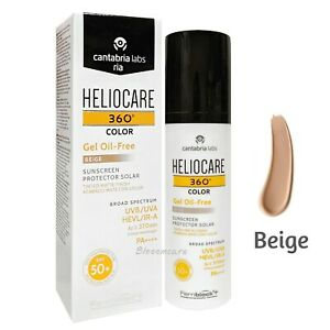 Heliocare 360 Gel Oil-Free Tinted Beige Color SPF50+ 50ml