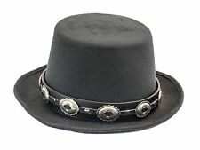 Vintage Concho Leather Band Wool Top Hat Premium Quality Party on! Slash Hat