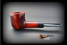HAND MADE WOODEN SMOKING PIPE for TOBACCO  no 64  Red + Filter