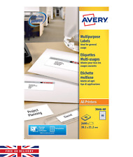 Avery Multipurpose Lables All Printers 2600 Lables 40 Per Sheet Self Adhesive