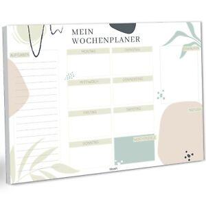 Wochenplaner Block DIN A4 ohne festes Datum | 50 Seiten | Clean