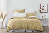 Sheridan Abbotson Belgian Linen Tailored Quilt Cover Honey