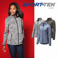 Sport-Tek Womens PosiCharge Electric Heather Soft Shell Long Sleeve Jacket LST30