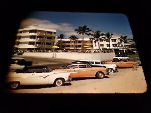 Original 1950s Kodachrome Slide - Horizon Hotel Ft. Lauderdale, FL Street Scene
