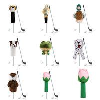 Golf Club Headcover Plush Cute Cartoon Animal Bar Head Protection Covers