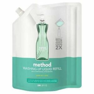 Method Washing Up Liquid Green Tea & Citrus Plant Based Refill Pack 1L