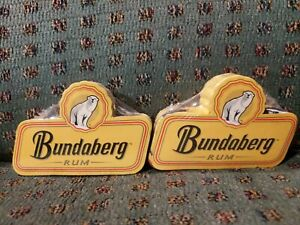 2 Bundaberg Rum Bundy Bear Compressed Towels - not Glass - Bar Mat