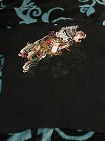 Ecko Unltd Short Sleeve T-Shirt Black Artistry Design Mens Size 3XL. Amazing Art