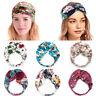 Soft Women Wide Floral Headwrap Turban Headband Hair Band Yoga Hairband Stretch