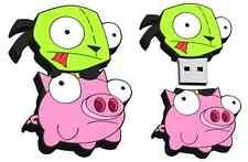 Invader Zim Gir on Pig 8GB Usb Flash Drive