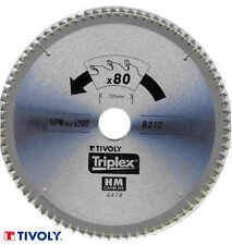LAME DE SCIE METAUX ALU PVC TIVOLY  210 - 250 - 254 - 300 MM 80 DENTS