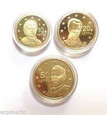 10, 20 und 50 Cent Kursmünze Griechenland 2013 PP / Proof