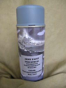 400ml (1L- RAL7031 Navy Grey Battle Ship Gray Stumpfm Spray Can Navy Bw
