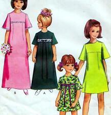 Vintage 60s GIRLS DRESS & BRIDESMAIDS DRESS Sewing Pattern Size/Age 8 RETRO