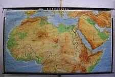 Schulwandkarte Wandkarte map Afrika Northern Africa Nordafrika 279x166cm 1968