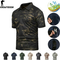 Mens Military Combat T-Shirt Short Sleeve Tactical Camouflage Army Casual Shirts