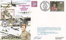 AC61bA 50th Anniv of the Glider Pilot Regiment.Flown Gazelle Signed Ansell Pilot