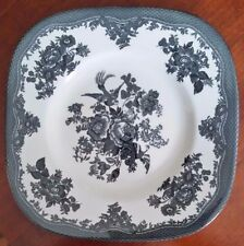"Johnson Bros Asiatic Pheasant Black Square Cake Plate 10.5"" NEW"