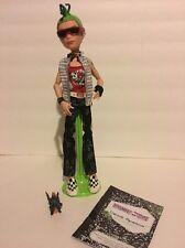 Monster High COMPLETE ORIGINAL WAVE 1 DEUCE GORGON Boy Doll Pet Journal Stand