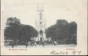 Brighton, E Sussex - St. Peter's Church - postcard by Mezzotint c.1903-10