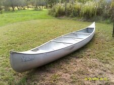 17' Aluminum MonArk Two Seat Canoe with 2 Paddles and 2 Life Vests