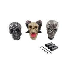 Universal Carved Skull Head Manual Transmission Gear Shift Knob Shifter Level