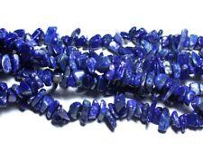 Fil 89cm 245pc env - Perles de Pierre - Lapis Lazuli Rocailles Chips 5-11mm