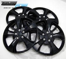 "Hubcap 15"" Inch Wheel Rim Skin Cover 4pcs Set Matte Black -Style 616 15 Inches-"