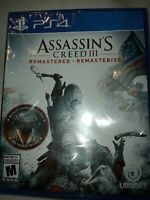 Assassin's Creed III 3 Remastered - PS4 - Brand New | Factory Sealed