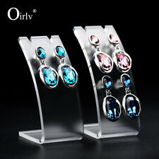 Oirlv Jewellery Display Stands for Earrings Pendants Trinkets Frosted Acrylic
